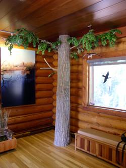 Indoor cottonwood, taxidermy display