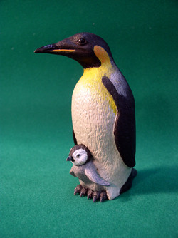 Emperor penguins toy