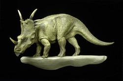 Styracosaurus bas relief
