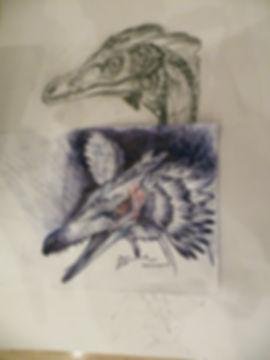 Velociraptor sculpting workshop sketch Mongolia dinosaur
