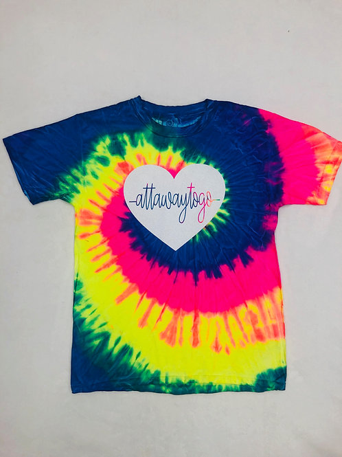 Attawaytogo Heartbeat Tie Dye Tee