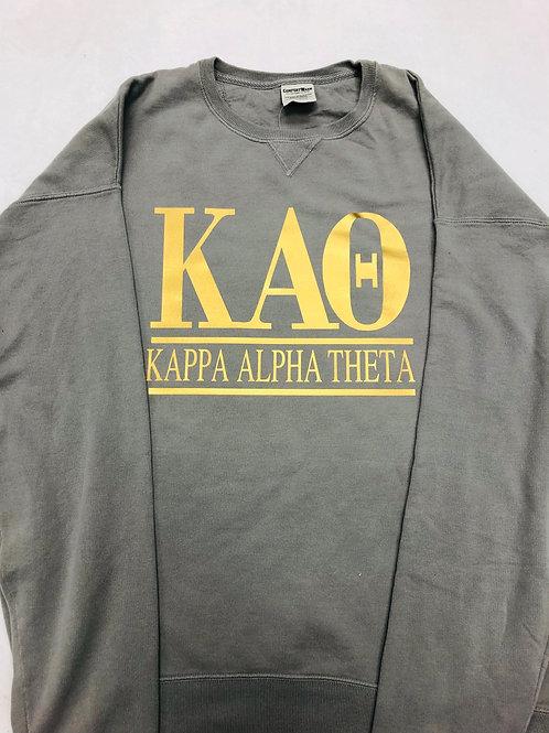 Kappa Alpha Theta Comfort Colors Neck Sweatshirt