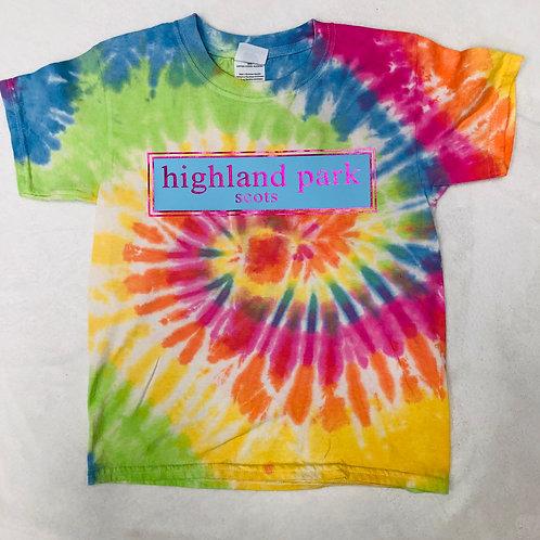 Highland Park Pastel Tie Dye Prep Design In Blue and Pink