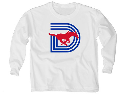 SMU Triple-D YOUTH Long Sleeve Tee - White