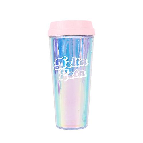 Delta Zeta Retro Travel Mug
