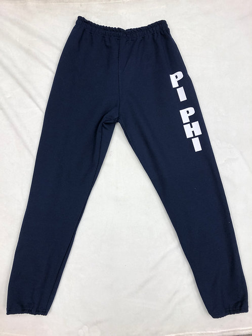 Pi Beta Phi Navy Sweatpants with White Letters