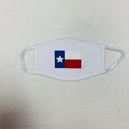 Texas Flag Adult White Face Mask
