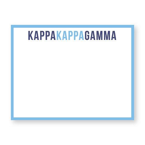 Kappa Kappa Gamma Note Cards