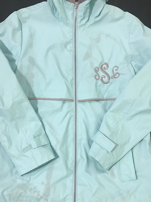 Adult Monogrammed Full Zip Rain Jacket