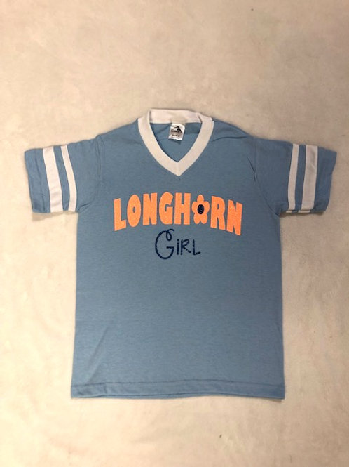 Longhorn Blue Girl Shirt