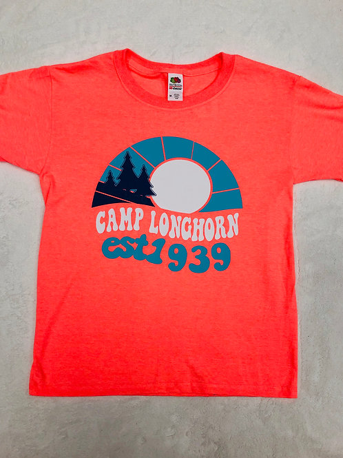 Camp Longhorn Retro Orange Tee