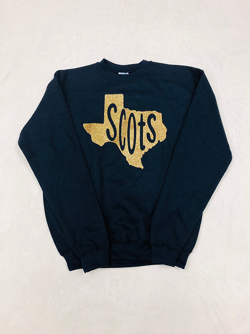 Youth Highland Park Texas Navy Crew Sweatshirt