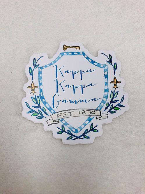 Kappa Kappa Gamma Color Sticker