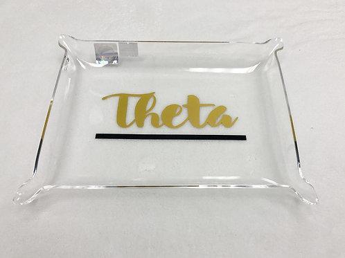 Kappa Alpha Theta Acrylic Pinch Tray