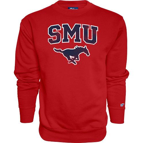SMU Red Crew Neck Sweatshirt