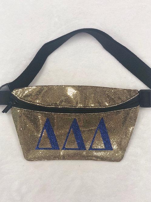 Delta Delta Delta Glitter Fanny Pack