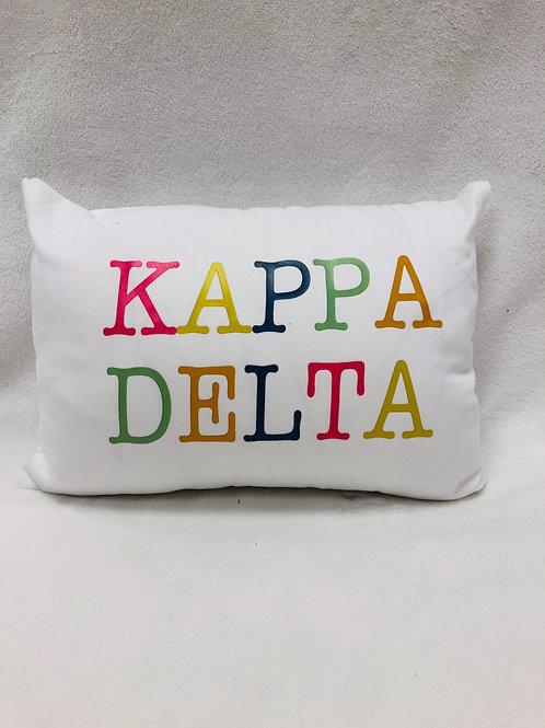 Kappa Delta Color Block Pillow