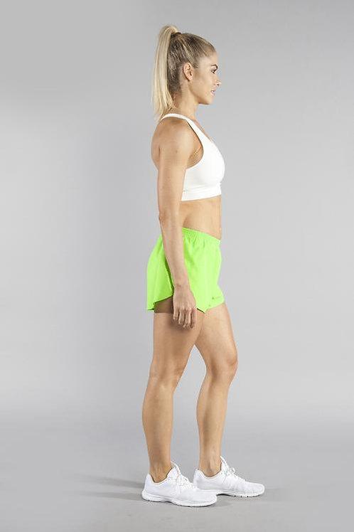 "1"" Split Trainer Neon Lime Shorts"