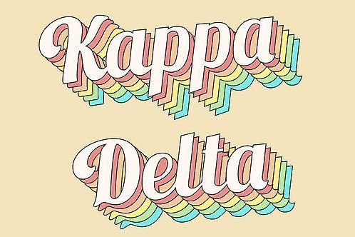 Kappa Delta Retro Flag