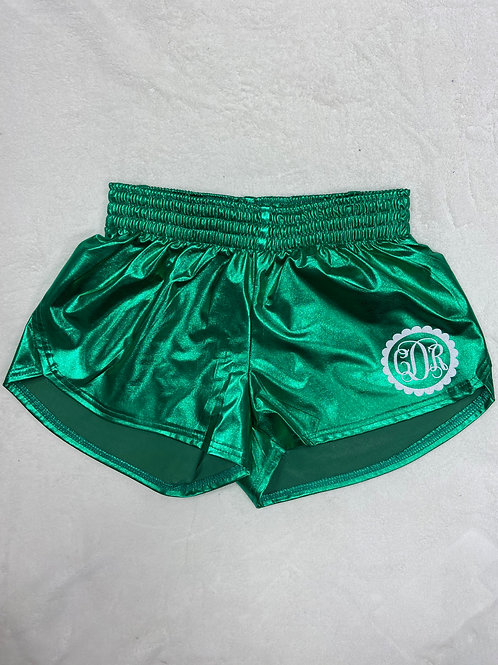 Personalized Youth Metallic Summer Shorts - Green