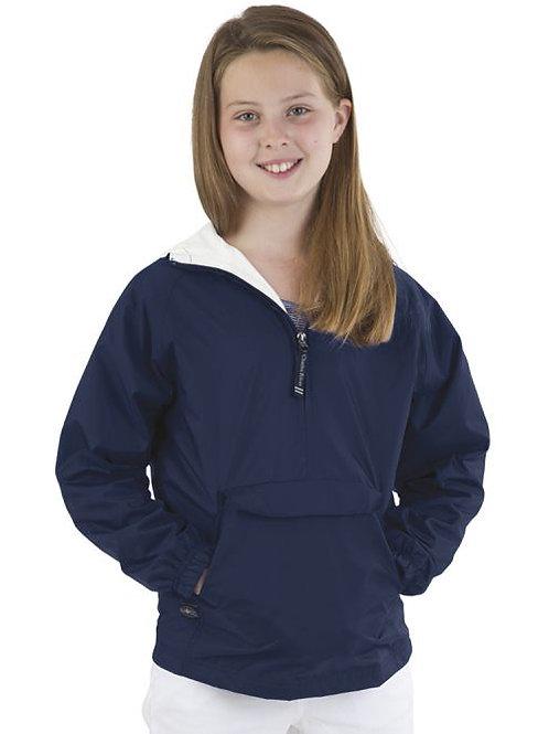 Youth Blank 1/4 Zip Rain Jacket