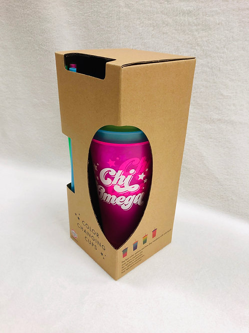 Chi Omega Color Changing Tumblers