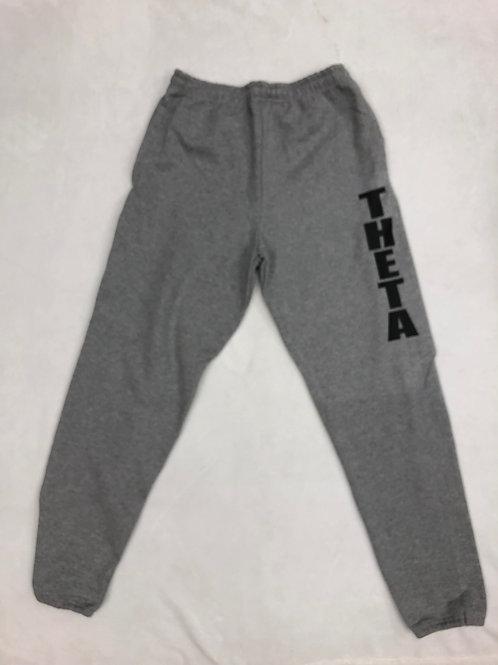 Kappa Alpha Theta Grey Sweatpants with Black Letters