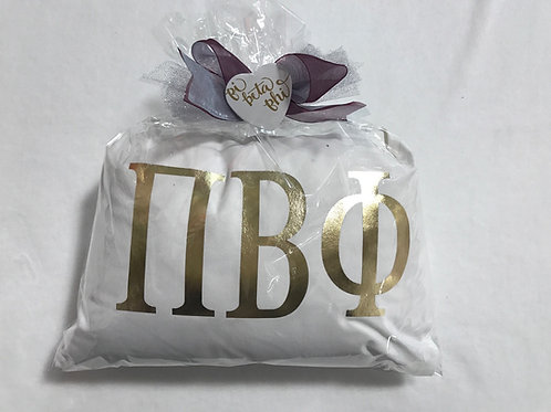 White and Gold Pillow Gift Package