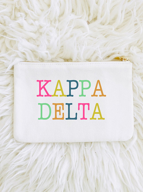 Kappa Delta Color Block Lined Pouch