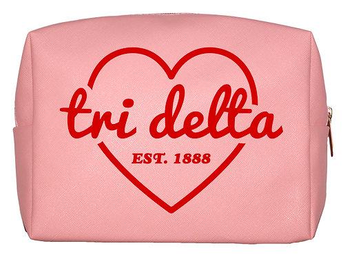 Delta Delta Delta Sweetheart Makeup Bag