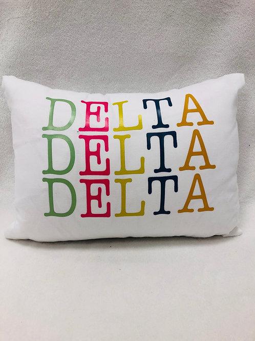 Delta Delta Delta Color Block Pillow