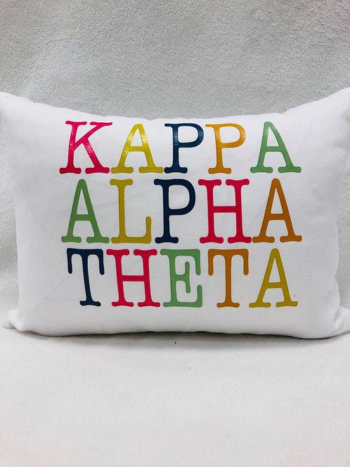 Kappa Alpha Theta Color Block Pillow