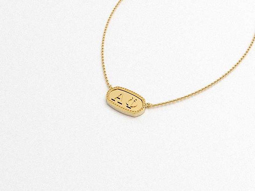Alpha Phi Gold Necklace