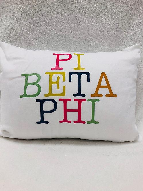 Pi Beta Phi Color Block Pillow