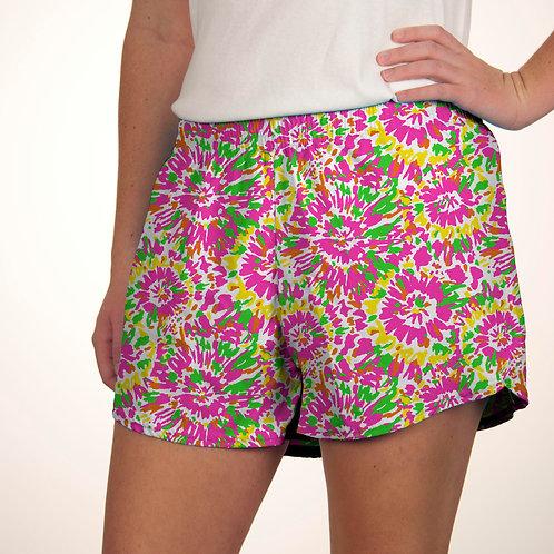Neon Tie Dye Summer Shorts