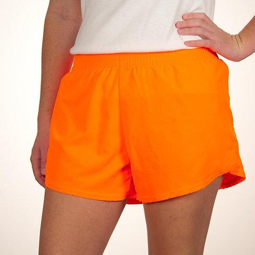 Adult Neon Orange Summer Shorts
