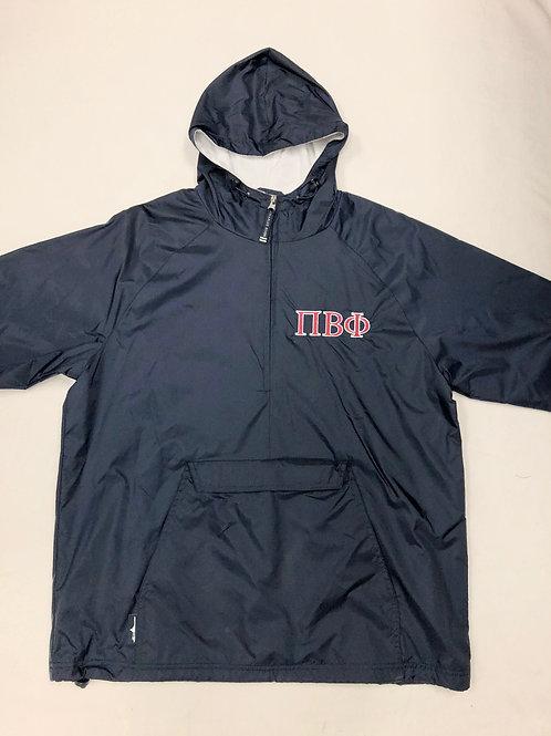 Pi Beta Phi Navy 1/4 Zip Rain Jacket