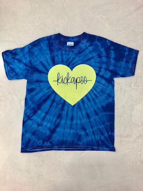 Kickapoo Heartbeat Tie Dye Tee