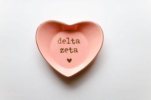 Delta Zeta Heart Ring Dish