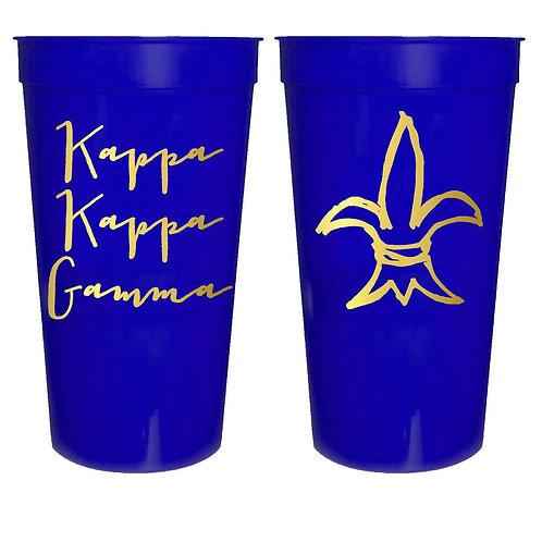 Kappa Kappa Gamma Plastic Tumbler