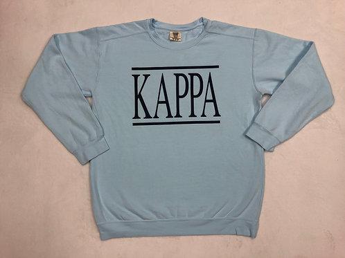 Kappa Kappa Gamma Comfort Colors Sweatshirt