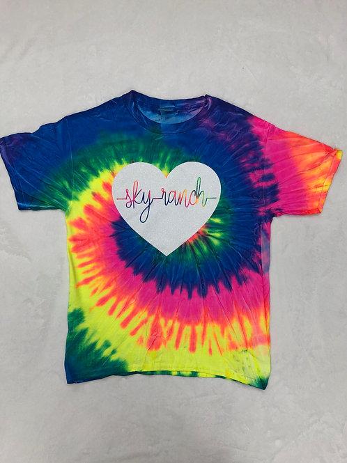 Sky Ranch Heartbeat Tie Dye Tee