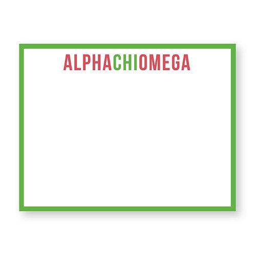 Alpha Chi Omega Notecards - Set of 10