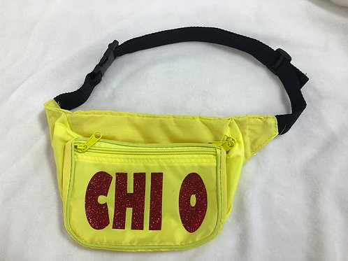 Chi Omega Neon Fanny Pack