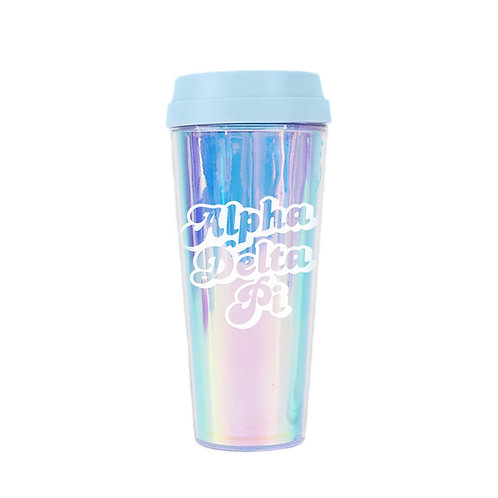 Alpha Delta Pi Retro Travel Mug