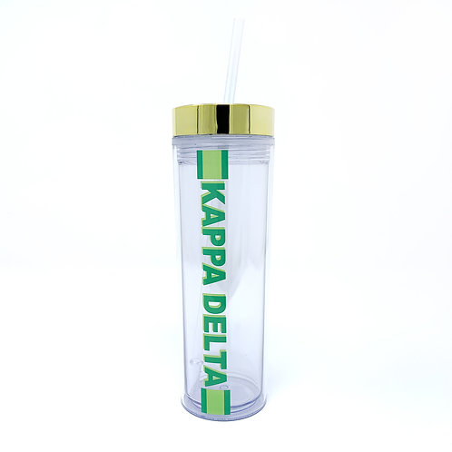 Kappa Delta Acrylic Water Bottle - Racing Stripe