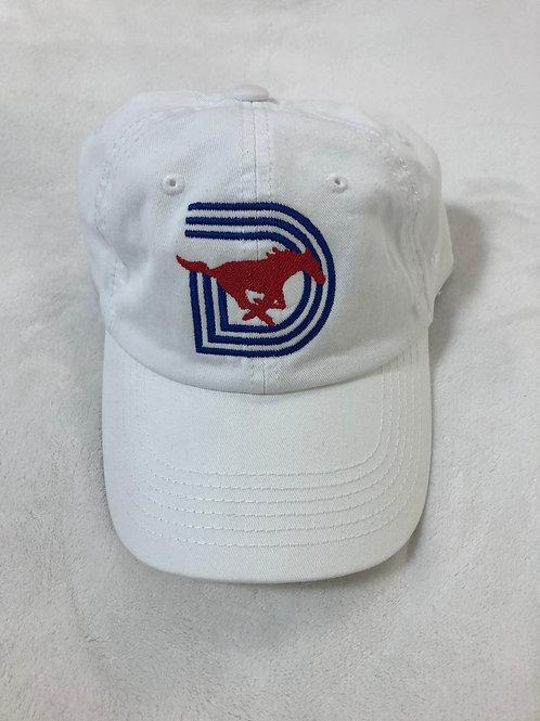 SMU Triple D Pony Cap - White