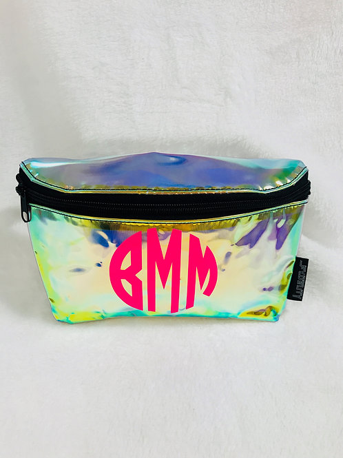 Personalized Irridescent Fanny Packs