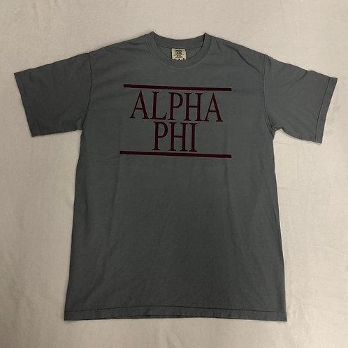 Alpha Phi Comfort Colors Short Sleeve Tee
