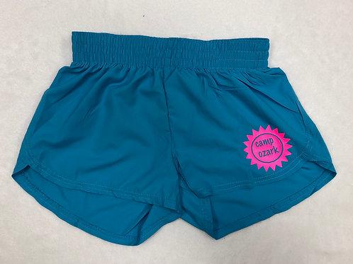 Camp Ozark Turquoise Sunshine Shorts